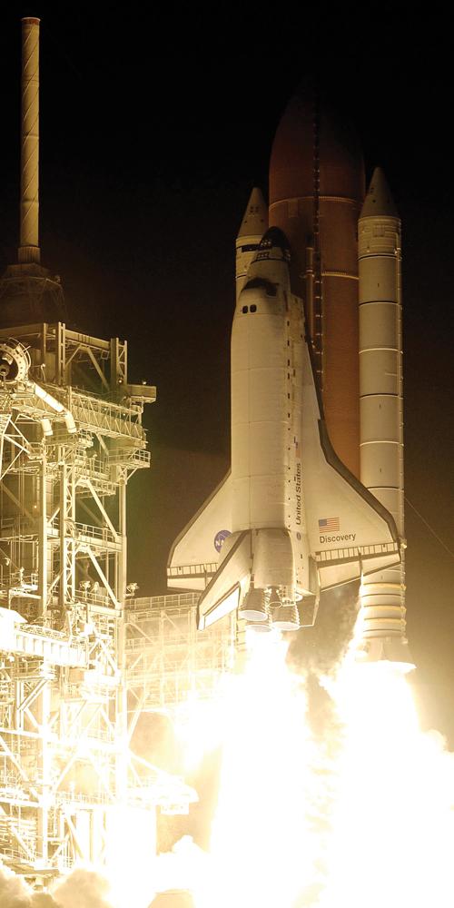 Biggies Space Murals - Discovery Launch - Medium
