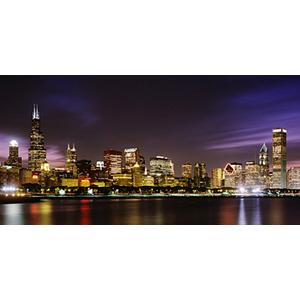 Biggies Wall Mural - Chicago Skyline - Medium