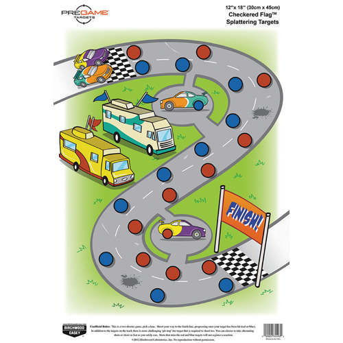 "BW Casey PREGAME Checkered Flag 12""x18"" Target - 8 Targets"