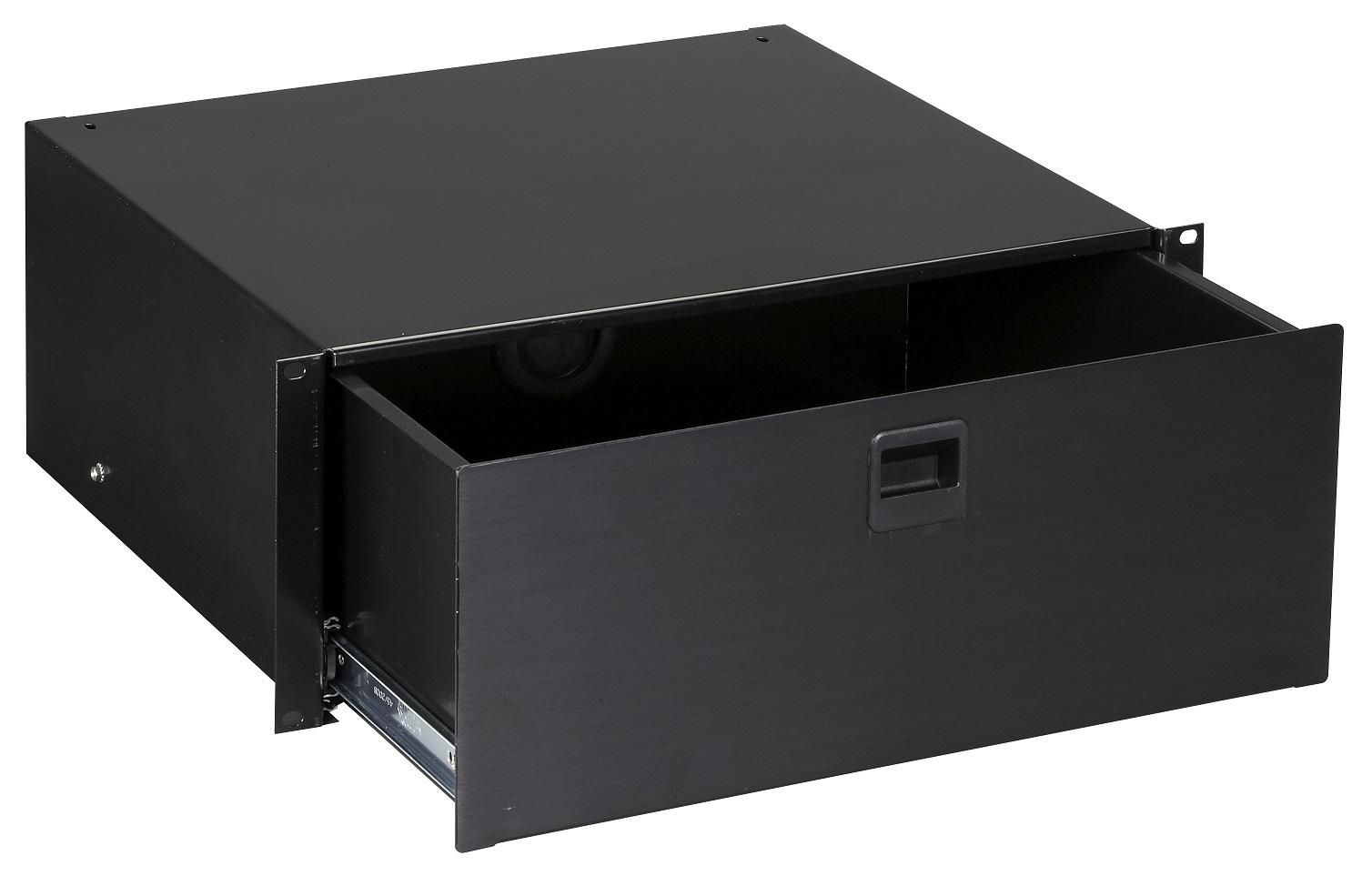 Black Box RMMT19 RackMount 4U Media Storage Drawer Black