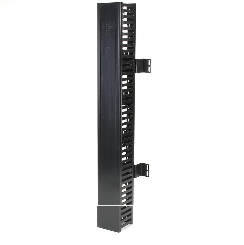 "Black Box RMT200A-R3 RackMount Cable Raceway 34""x4""x4"" Single-Sided Black"