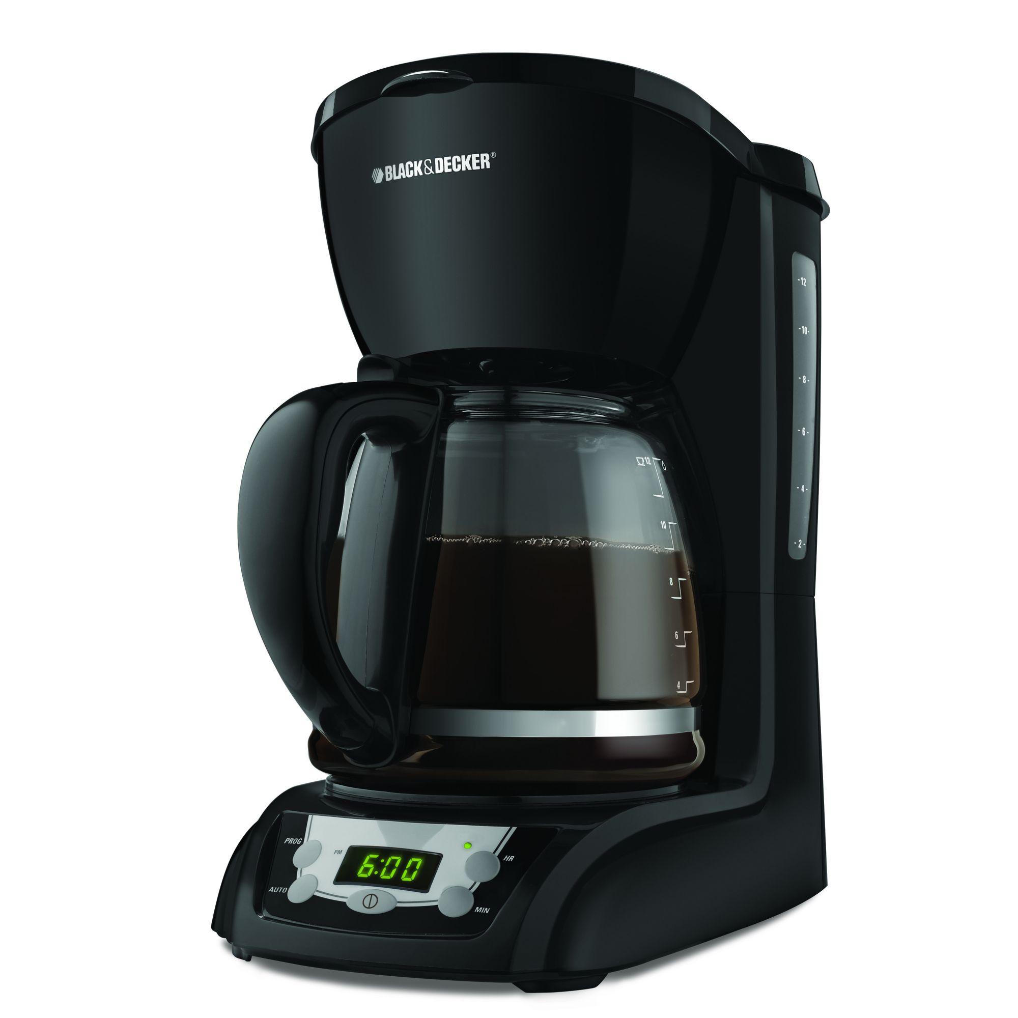 Black & Decker 12-Cup Programmable Coffee Maker, Black