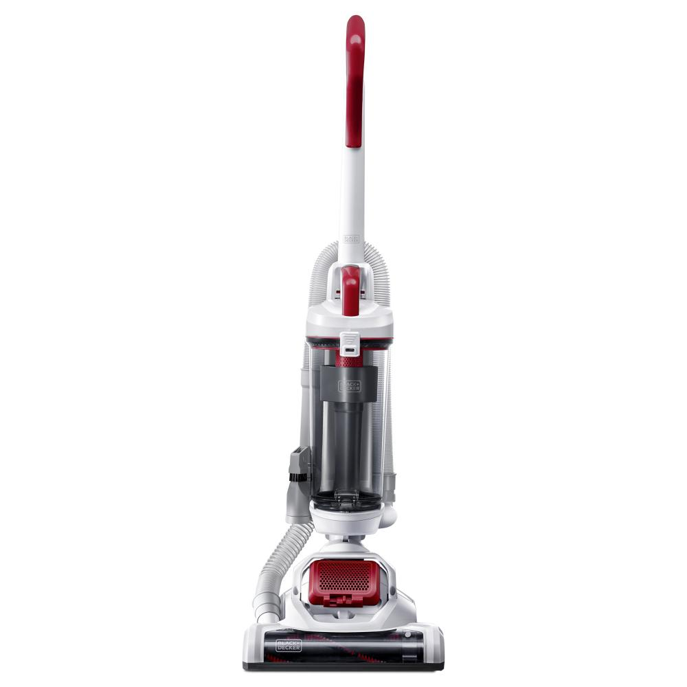 Black & Decker AirSwivel Ultra light Upright Vacuum PET, White / Monza Red