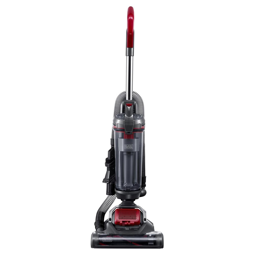 Black & Decker AIRSWIVEL Ultra Lightweight Upright Vacuum Cleaner, Titanium / Monza Red