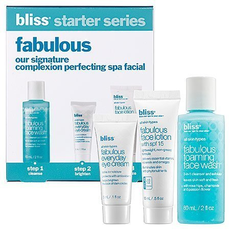 Bliss Fabulous Signature Complexion Perfecting Spa Facial Treatment 3 Piece Kit