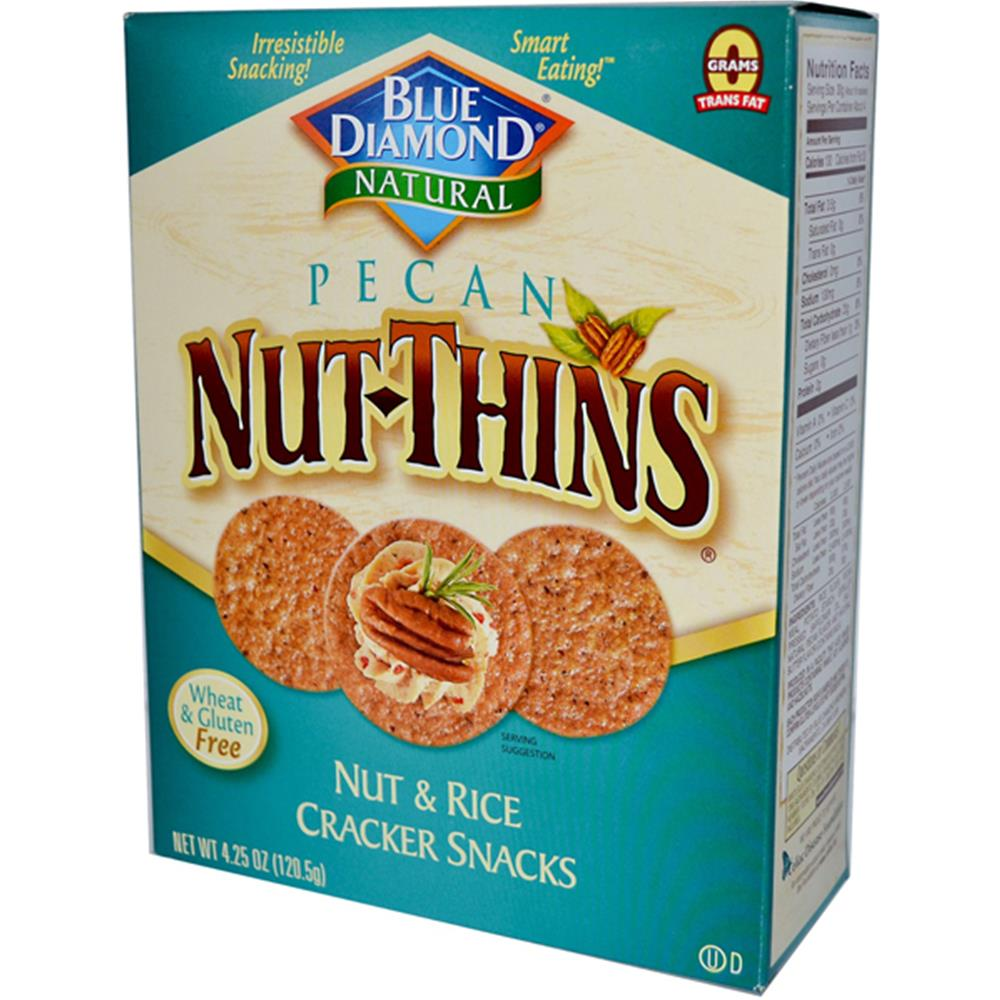 Blue Diamond Pecan Nut Thin Crackers (12x4.25 Oz)