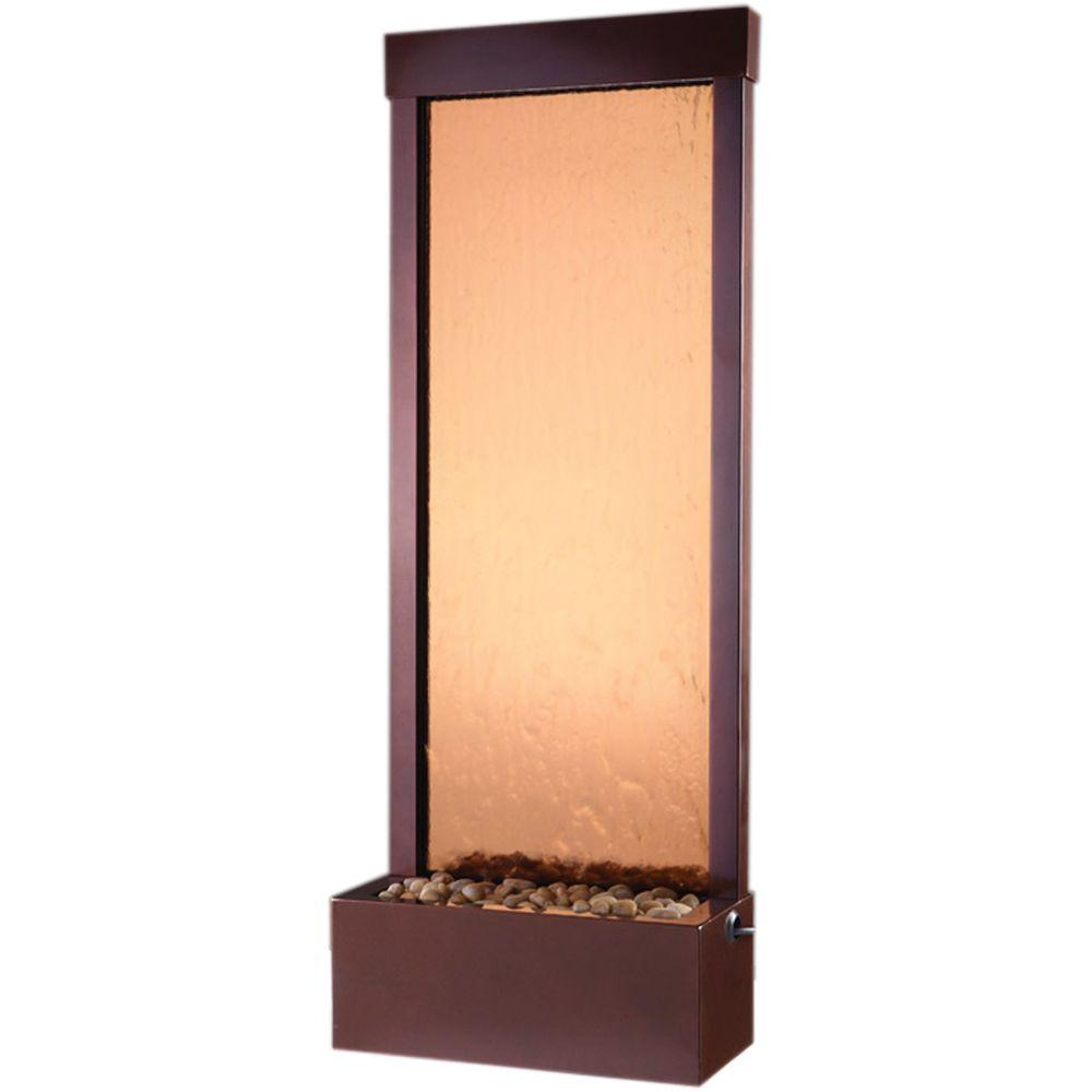 Bluworld 4' Gardenfall Bronze Mirror with Dark Copper Colored Frame -GF4DB