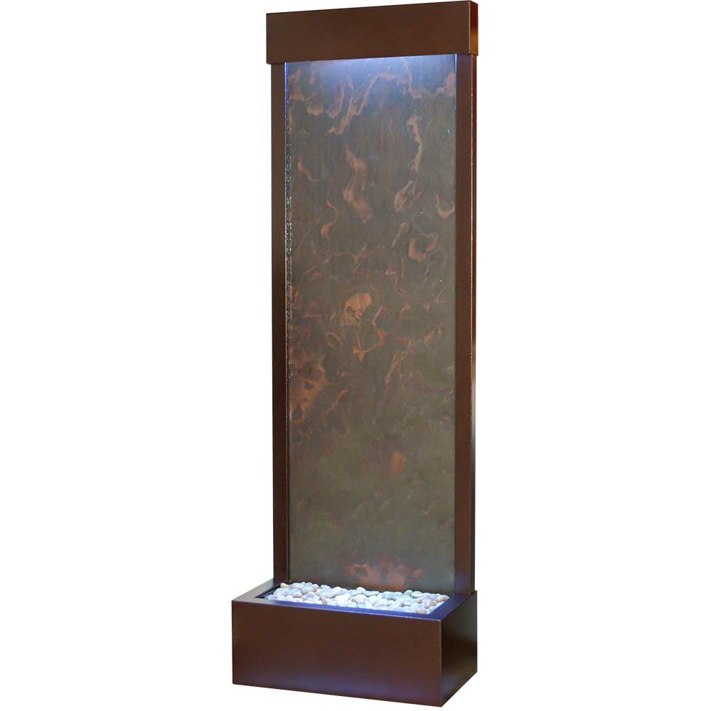 """Gardenfall Metaline REAR Mount Fountain 72"""" x 24"""" Coppervein w/Multi-Color Slate"""
