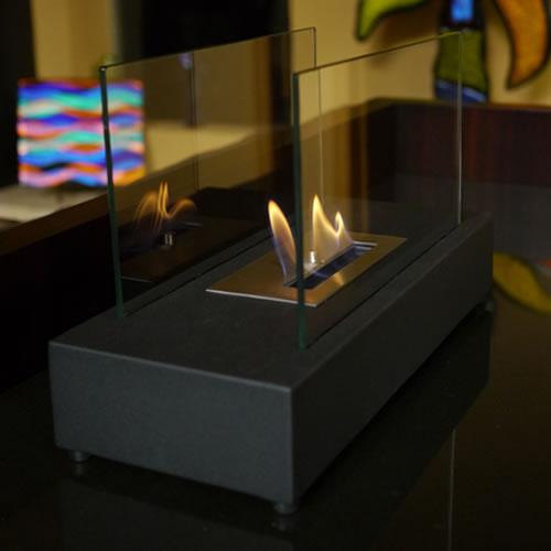 Incendio Tabletop Fireplace - Black