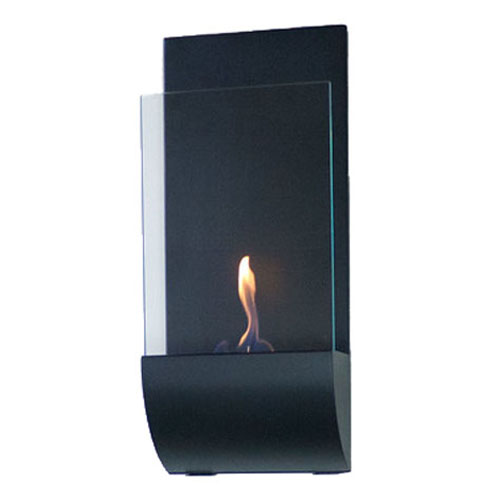 Torcia Wall Mounted Fireplace - Black