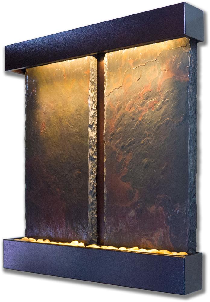 Duet Falls Lightweight Slate Fountain, Copper Vein Trim