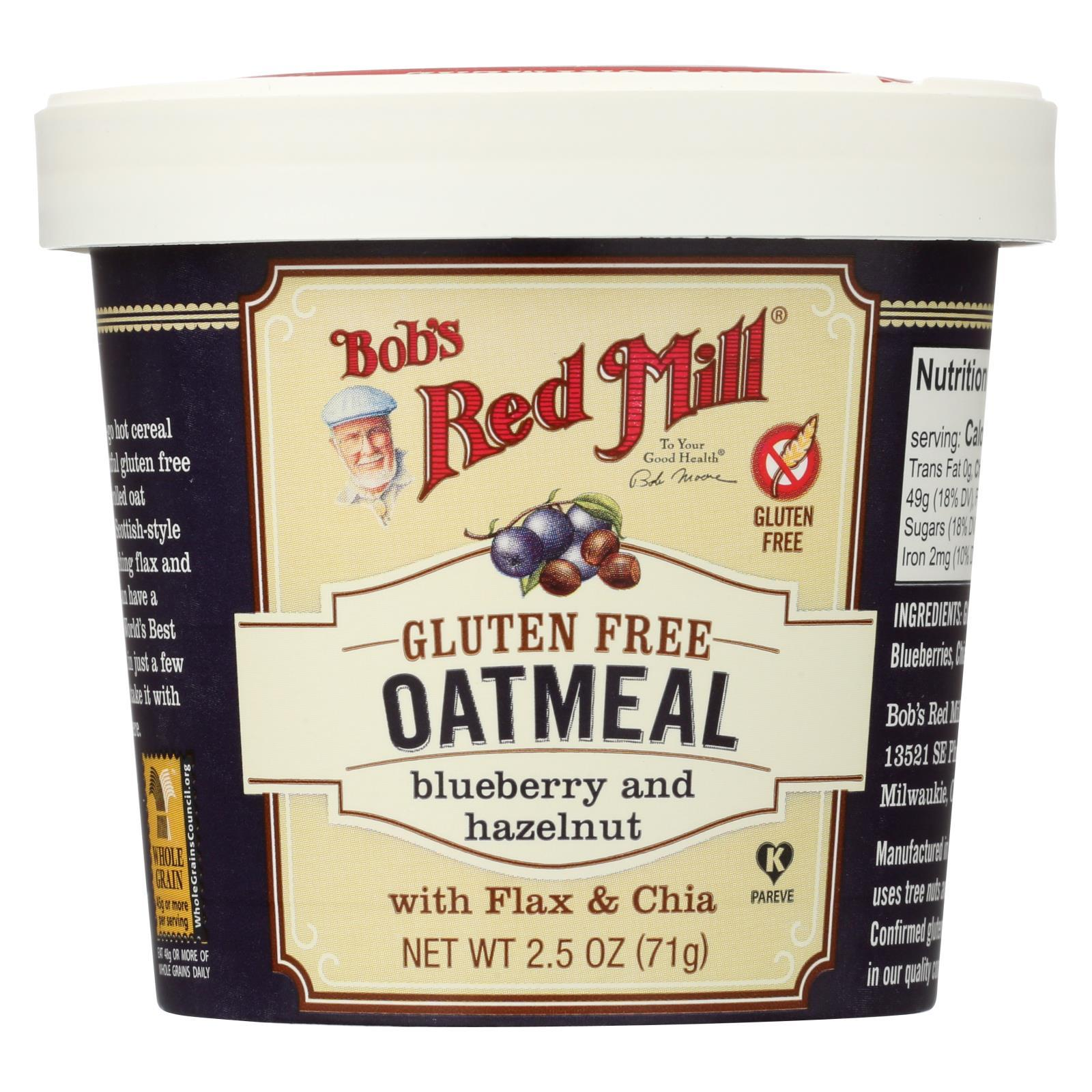 Gluten Free Oatmeal Cup, Blueberry And Hazelnut ( 12 - 2.5 OZ )