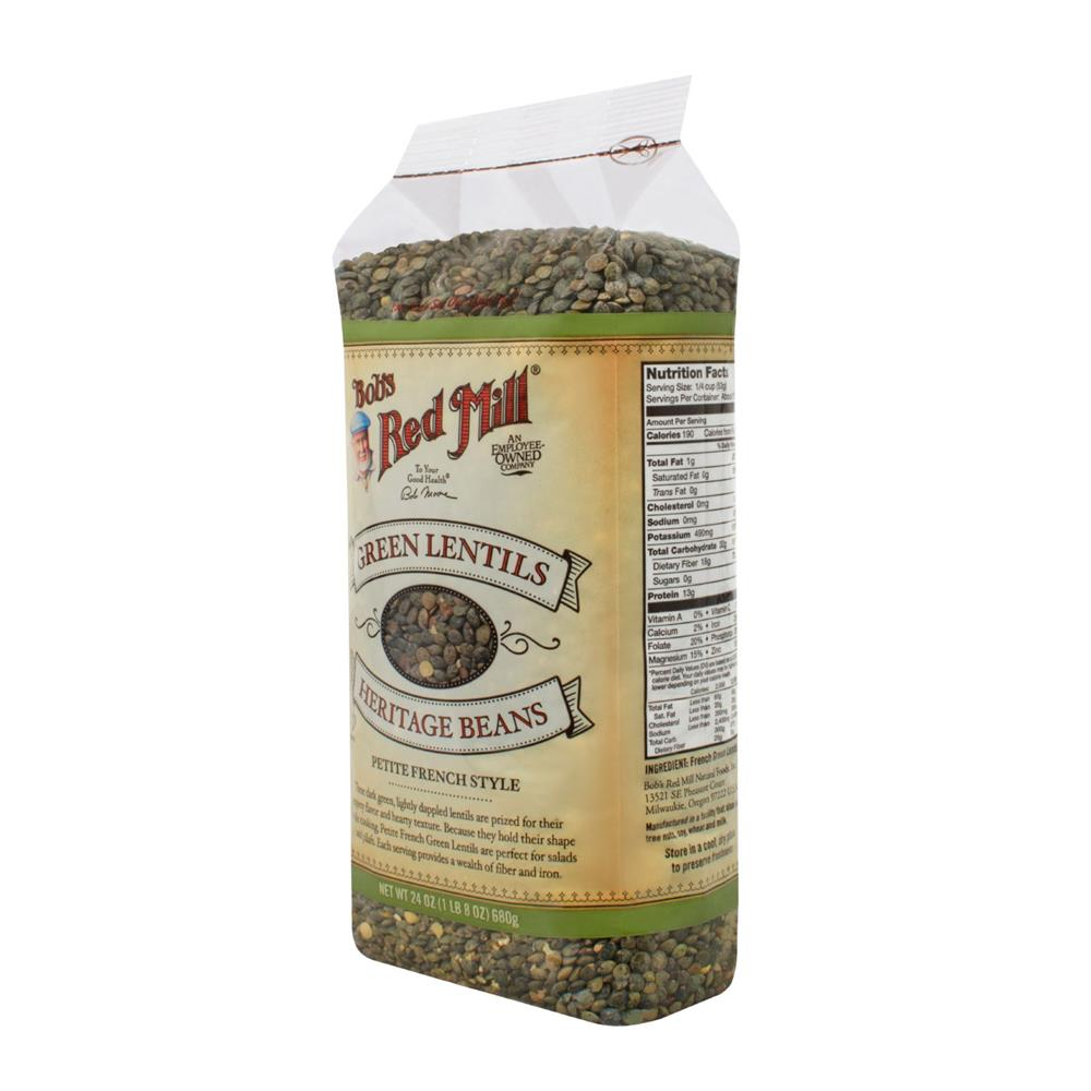Bob's Red Mill - Petite French Green Lentils ( 4 - 24 OZ)