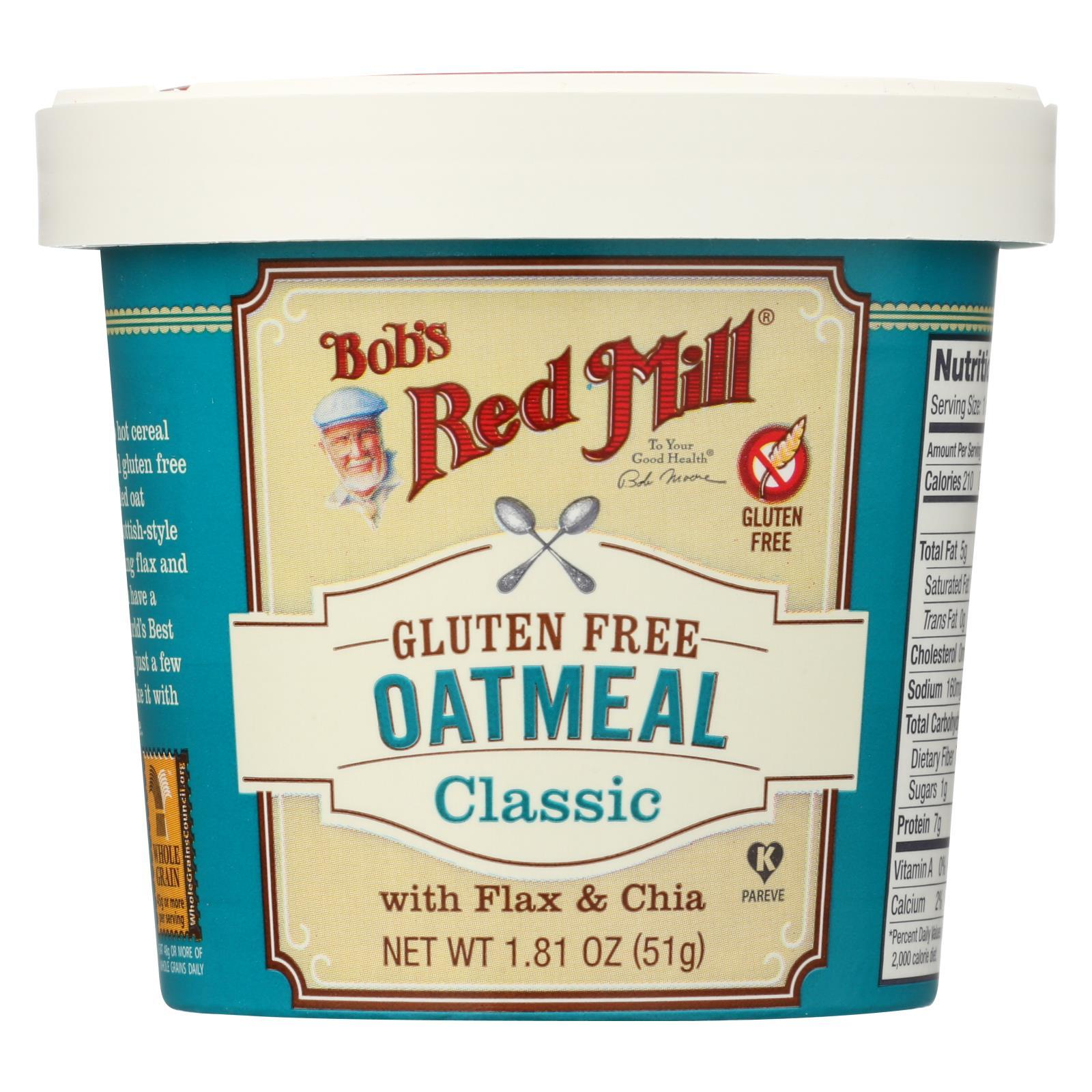 Gluten Free Oatmeal Cup, Classic With Flax/Chia ( 12 - 1.81 OZ )