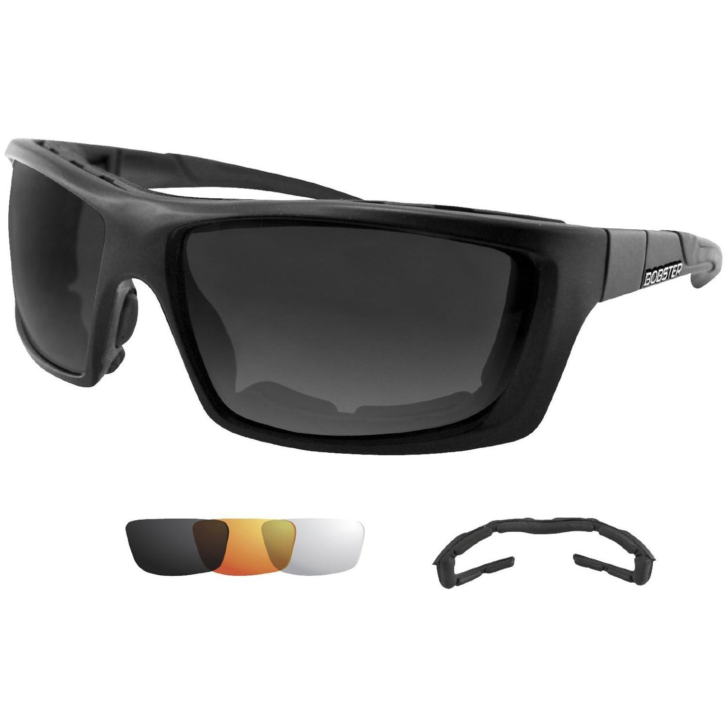 Bobster Trident Convertible Polarized Smked Clr & Amber Lens
