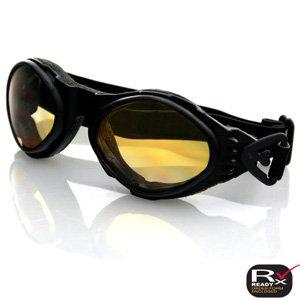 Bobster Bugeye Goggle Blk Frame Amber Lens