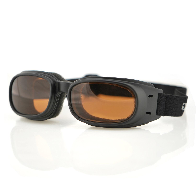 Bobster Piston Goggles, Black Frame, Amber Lens