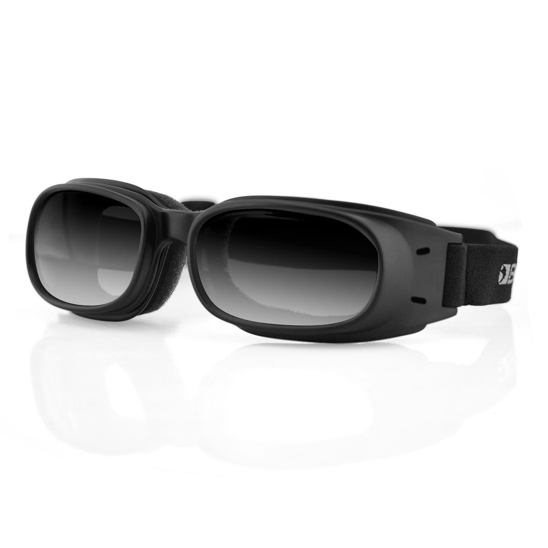 Bobster Piston Goggle, Black Frame, Smoked Reflective Lens