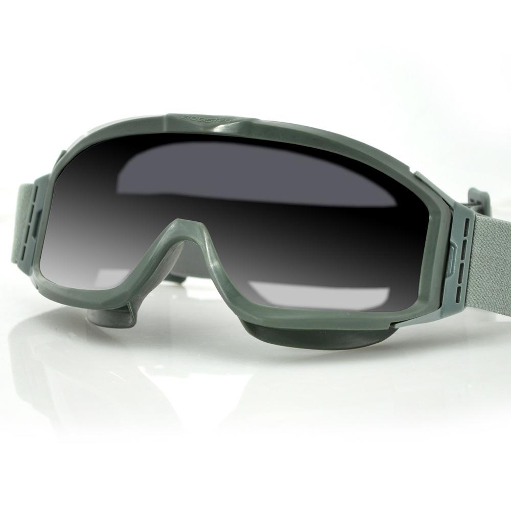 Bobster Alpha Ballistics Goggles Z87-Green Frame-2 Lenses