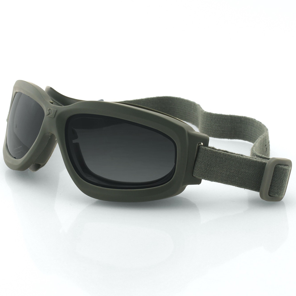 Bobster Bravo 2 Ballistic Goggle-Grn Frame-3 Anti-fog Lenses