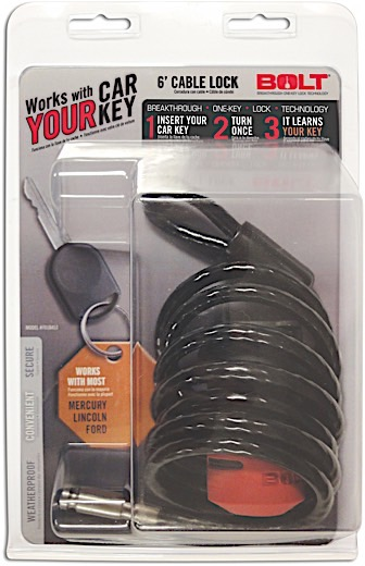 (CLAMSHELL)96-14 F150/96-15 F250/F350 6FT CABLE LOCK
