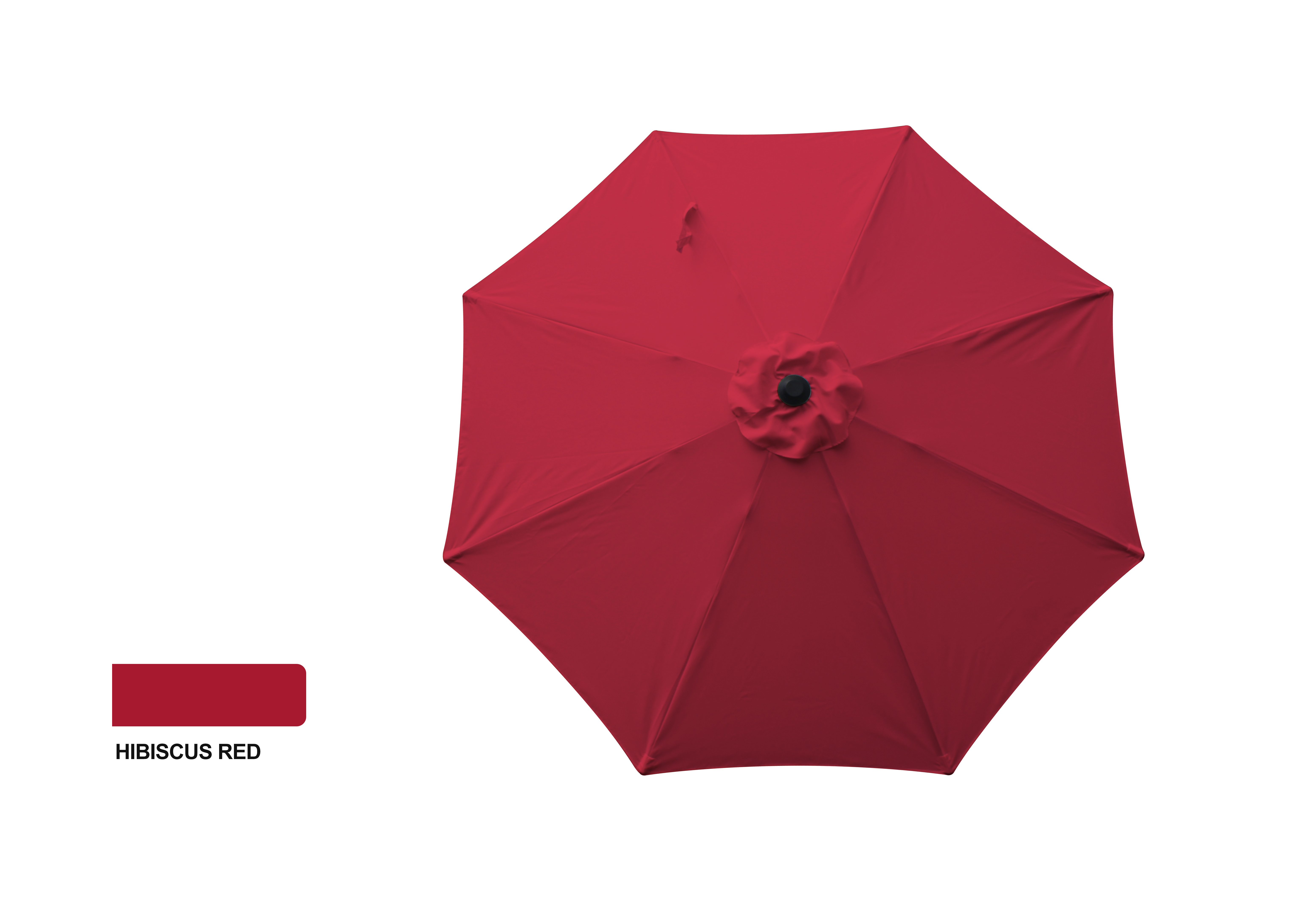 9' ALUMINUM MARKET UMBRELLA - HIBISCUS RED
