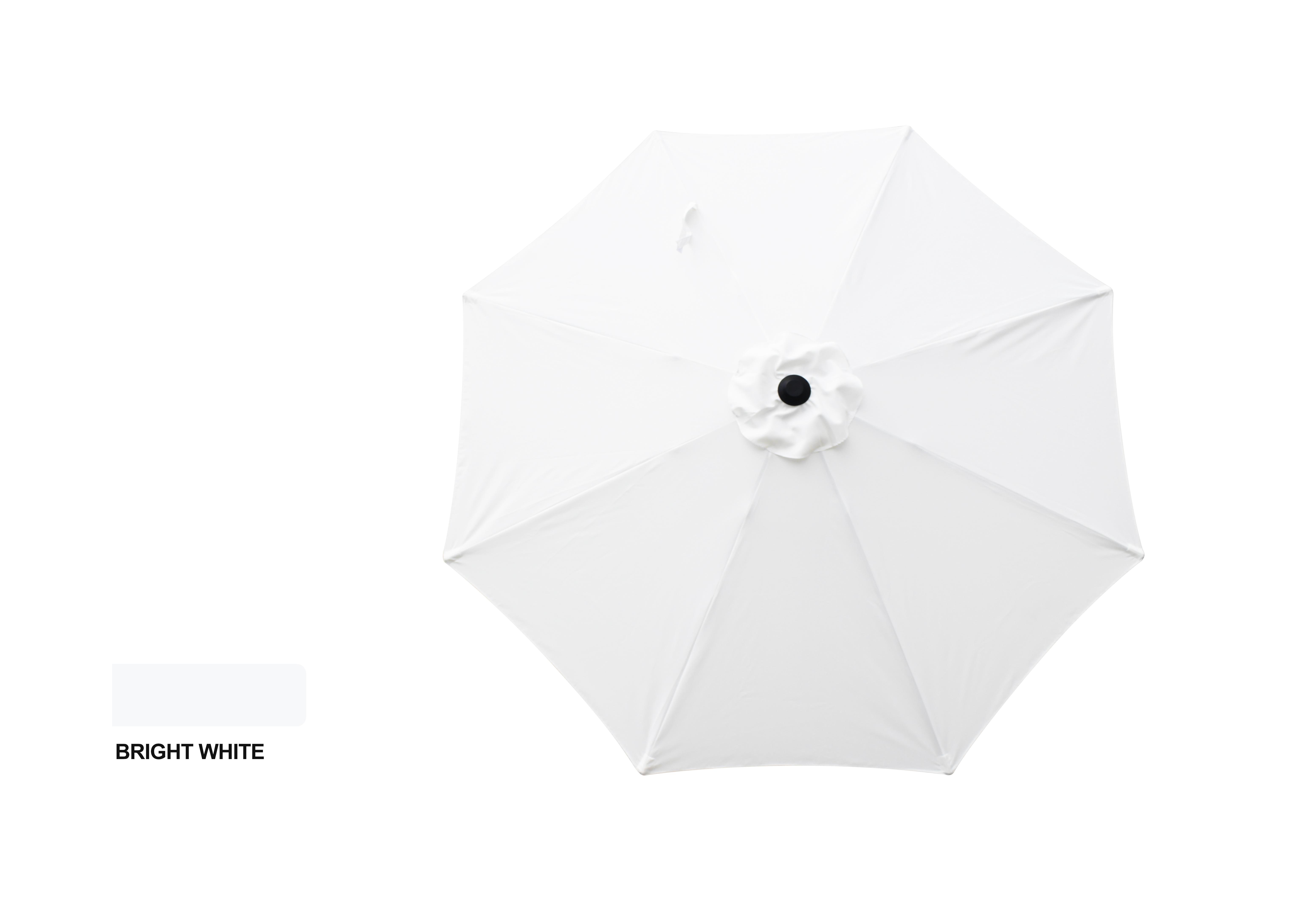 9' ALUMINUM MARKET UMBRELLA - SIMPLY WHITE