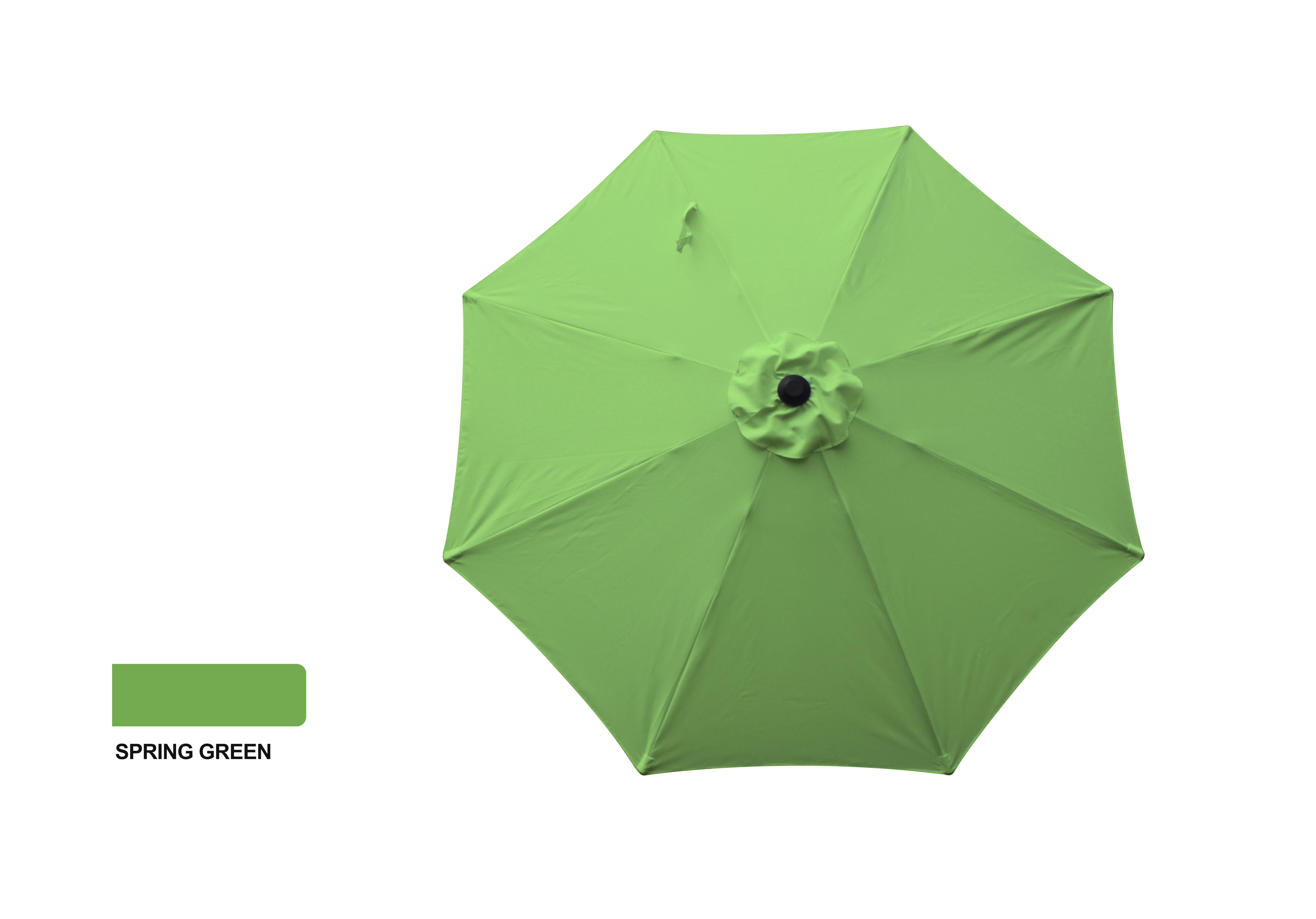 9' ALUMINUM MARKET UMBRELLA - SPRING GREEN