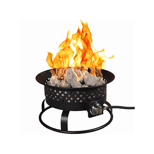Aurora Steel Gas Firebowl - Rubbed Bronze