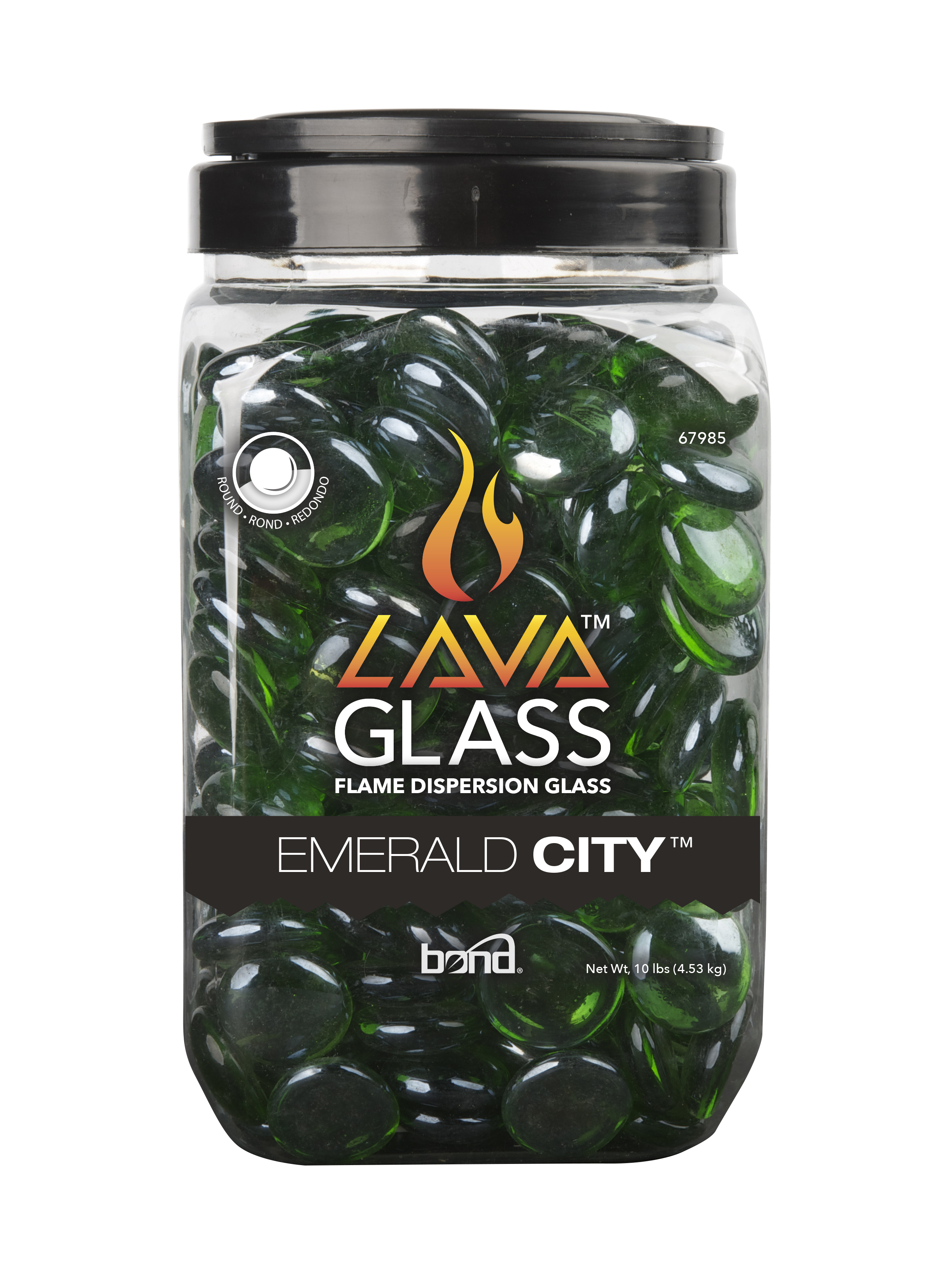 Round LavaGlass+ Emerald City 4-Pack
