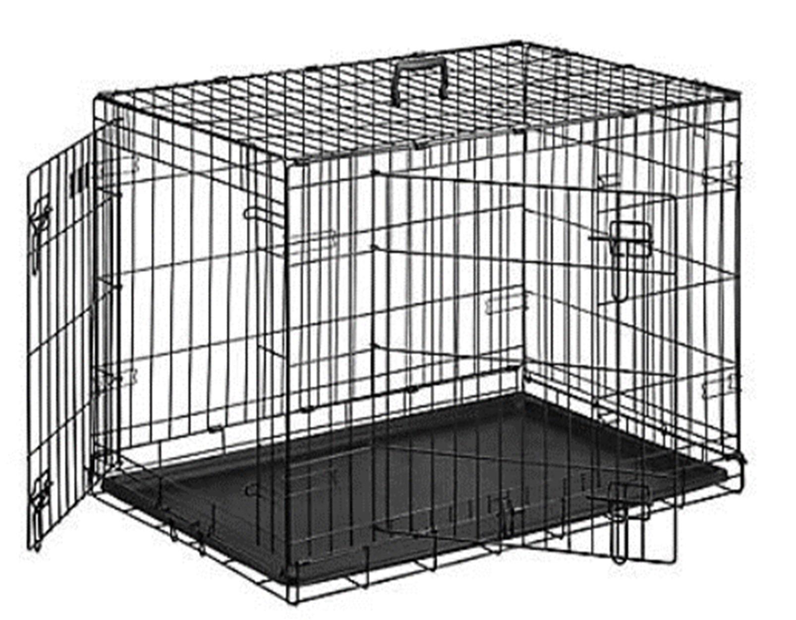 """48"""" 2 Door Dog Crate"""