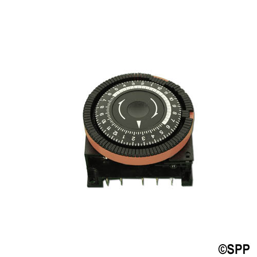 Time Clock, Diehl, 24HR, 115V, 16A, 5-Terminal, SPDT, Red