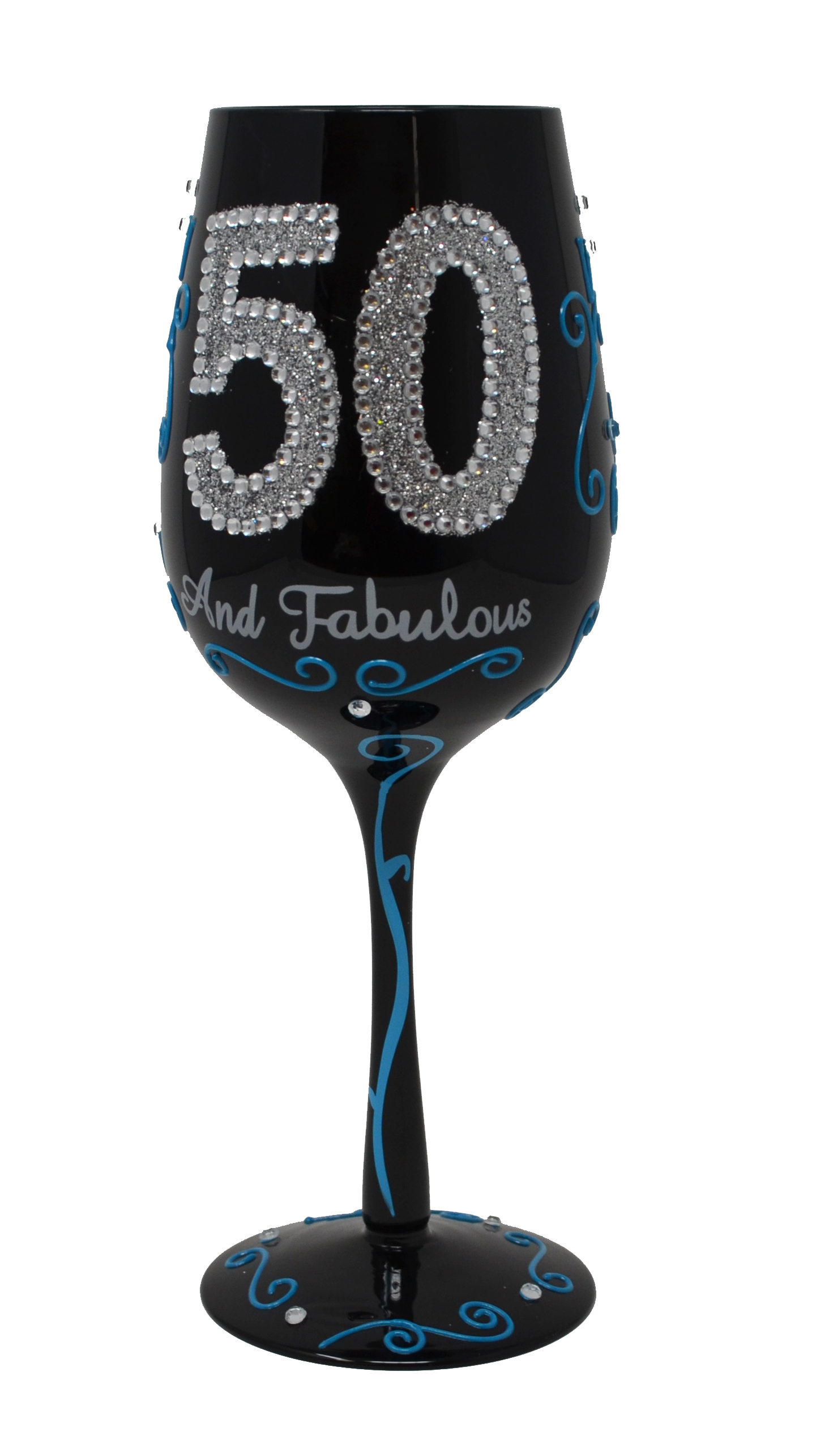 50 And Fabulous Wine Glass