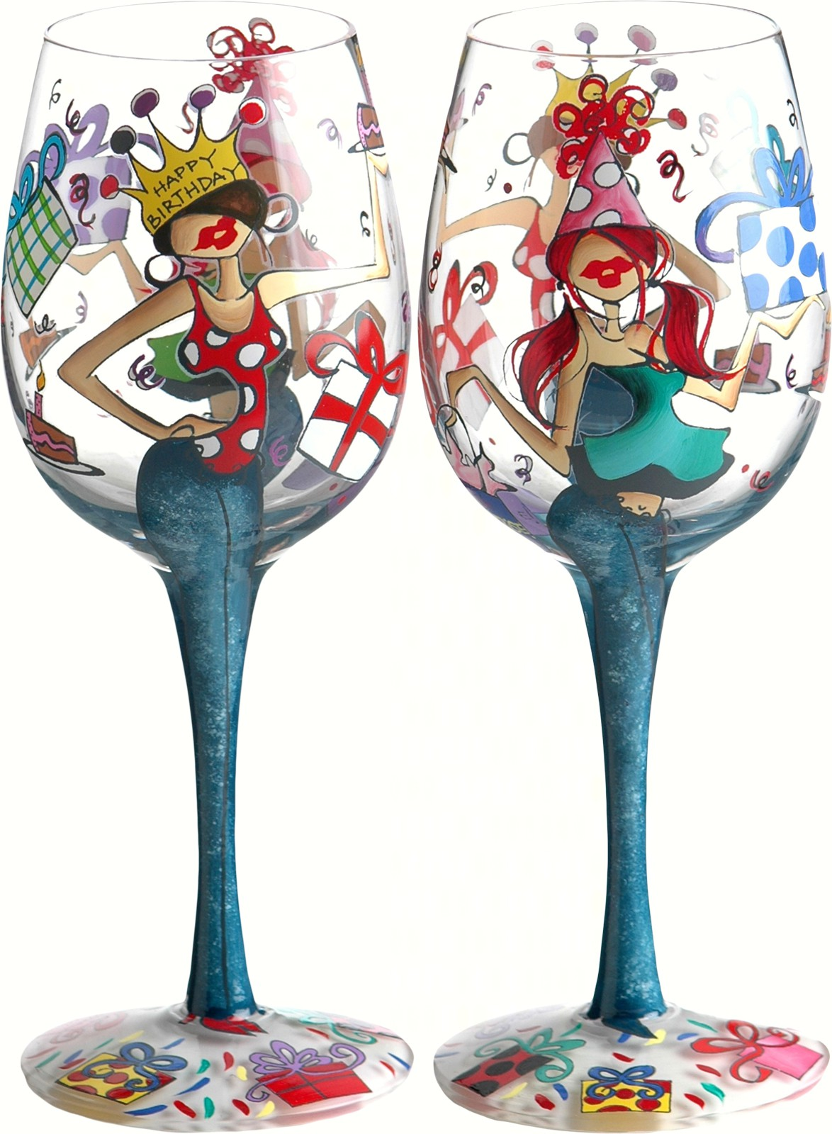 Wine Glass, Happy Birthday