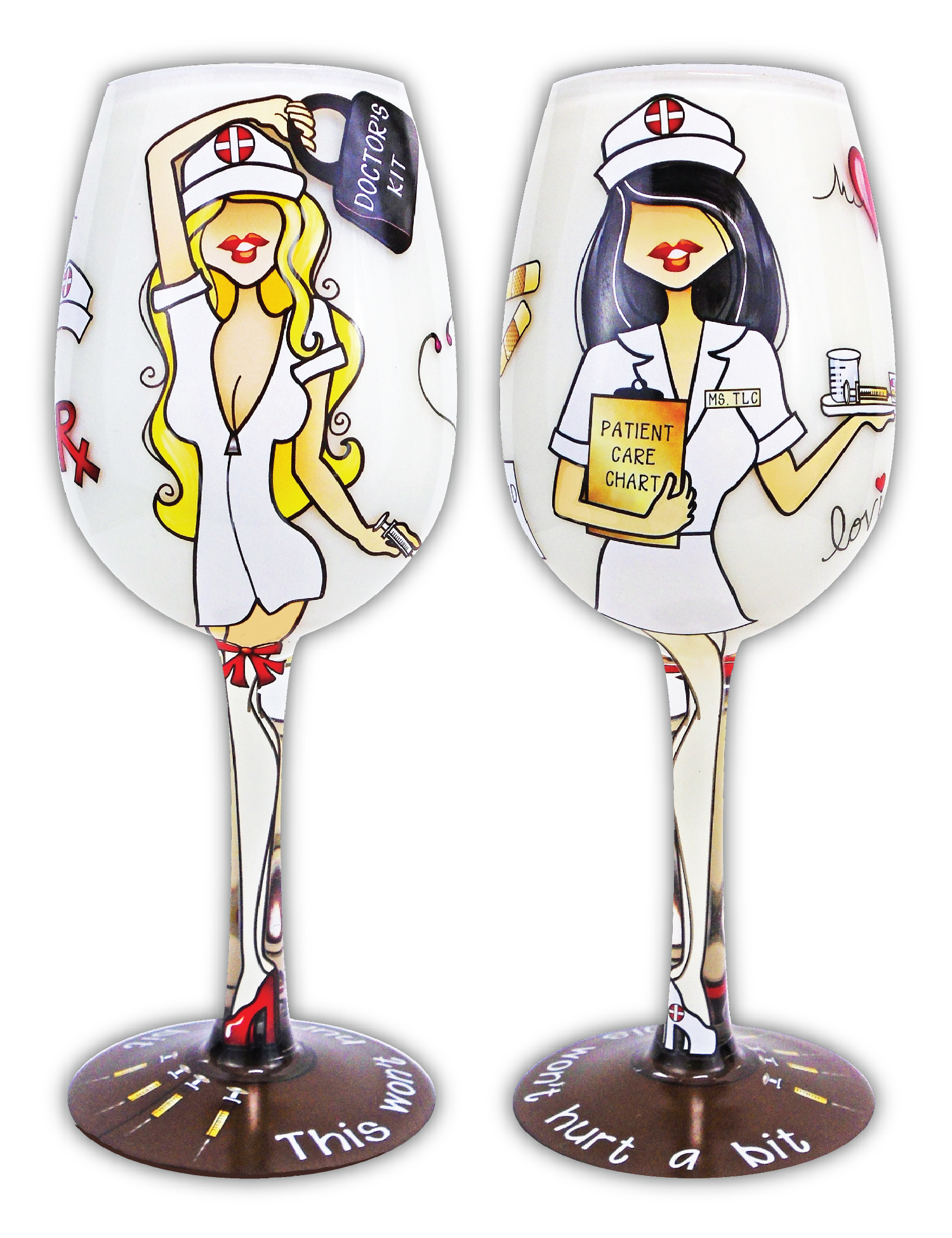 Wine Glass, TLC Blonde Nurse