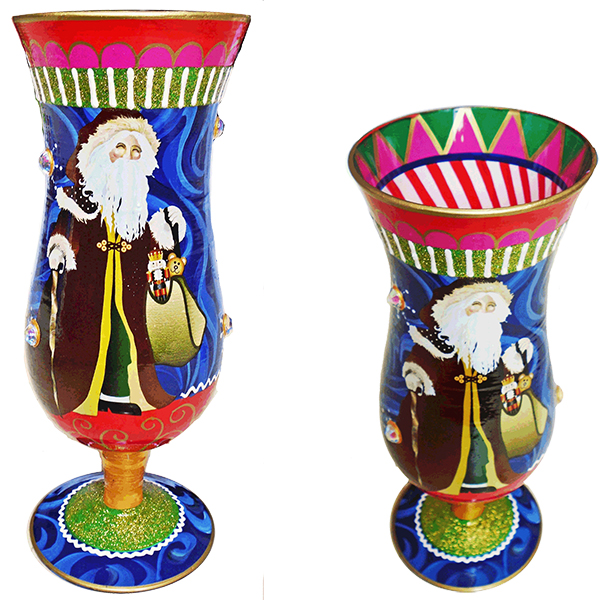 IB Hurricane Glass Santa