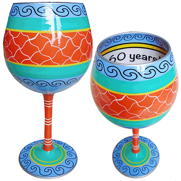 IB Wine Glass Cheers to 60 Years