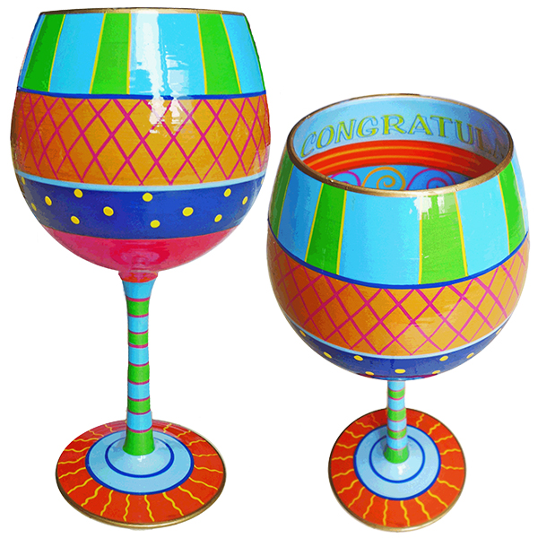 IB Wine Glass Congratulations