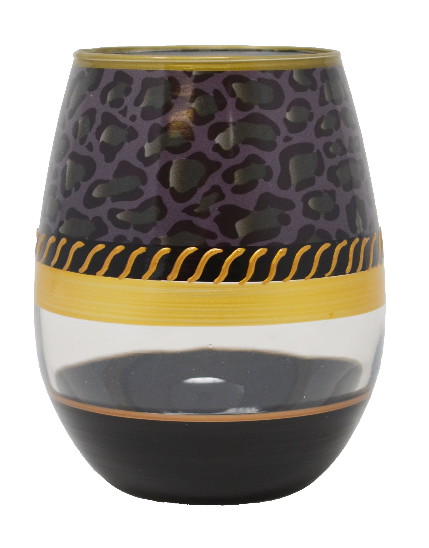 Stemless Wine Glass Deco Jaguar