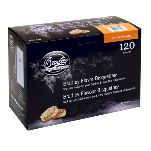 Bradley Mesquite Bisquettes 120 Pack
