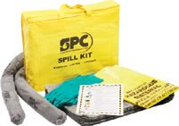Sorbent Products Highly Visible Yellow PVC Bag Kit For Small Spills