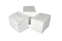 "Sorbent Products 15"" X 19"" ENV+ 1 Ply Mediumweight Oil Sorbent Pad (100 Per Bale)"