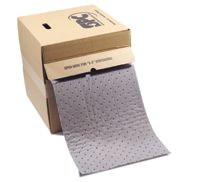 "Sorbent Products 15"" X 150' 3-Ply Gray Dimpled Heavy Weight Traffic Roll, Perforated Lengthwise Every 5"" And Cross-Wise Every 18"