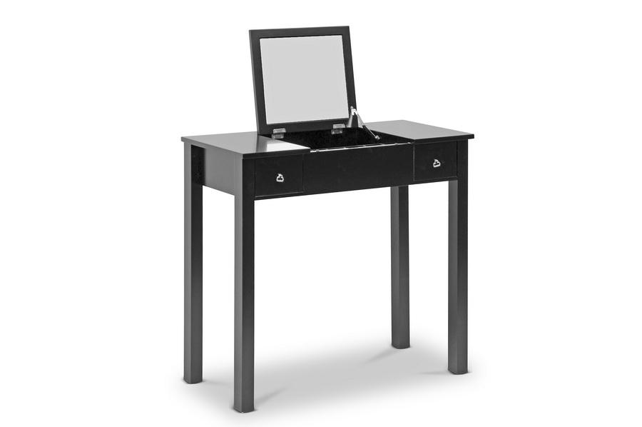 Baxton Studio Wessex Black Vanity Table