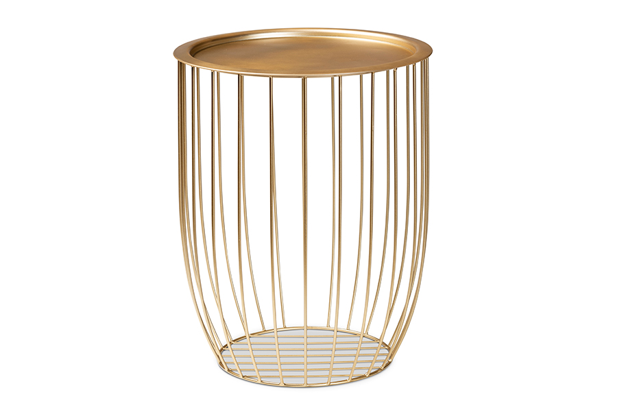 Baxton Studio Mabon Modern and Contemporary Gold Finished Metal End Table