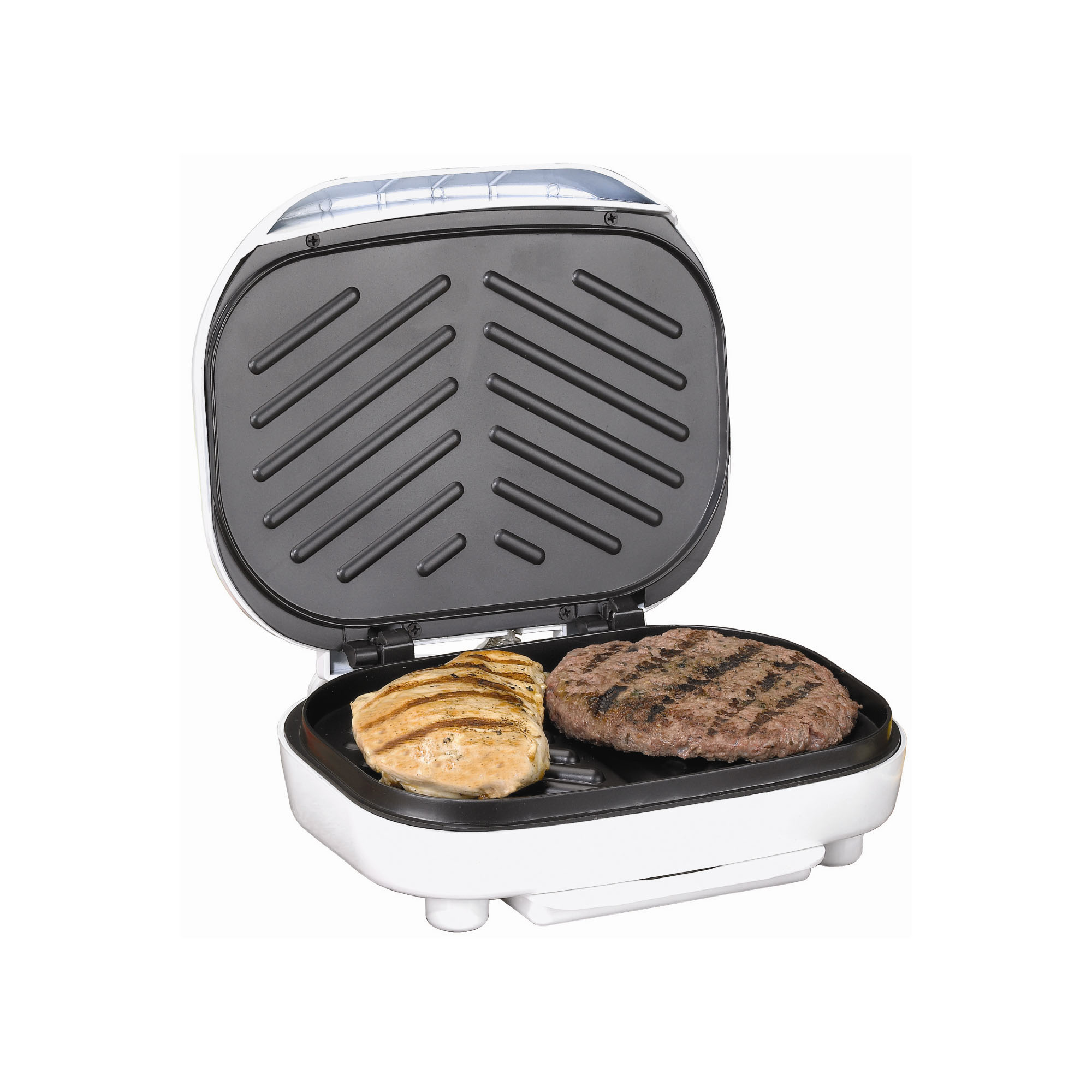 Brentwood Electric Contact Grill 2 Slice Capacity - White