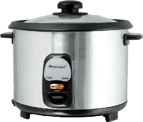 Brentwood TS-20 10-Cup (1.8 Liter) Stainless Steel Rice Cooker