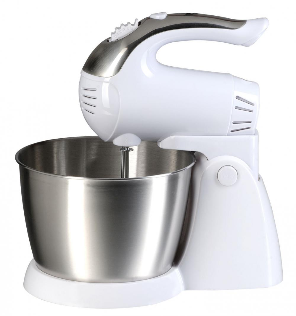 Brentwood 5-Speed Stand Mixer with Stainless Steel Bowl - White