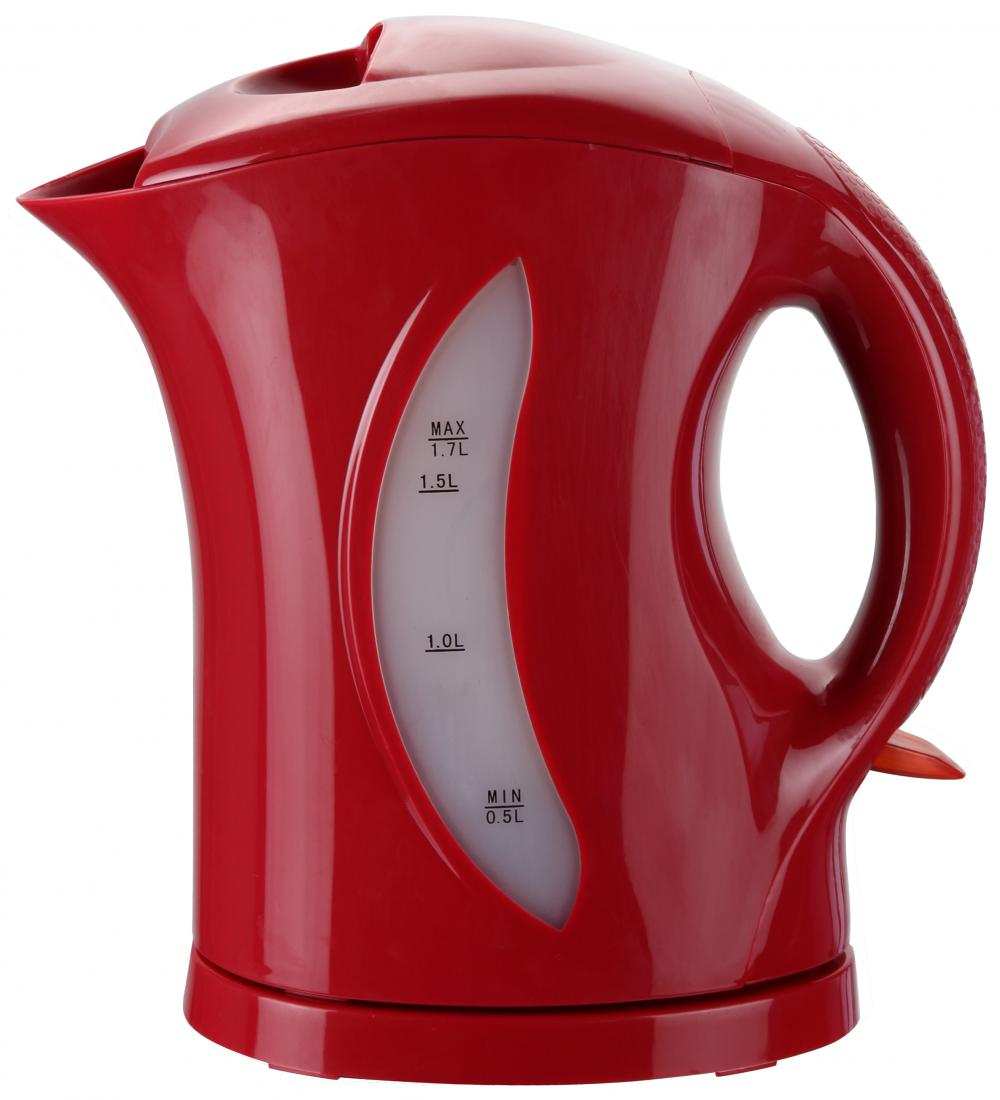 Brentwood 1.7 Liter Cordless Plastic Water Kettle - Red