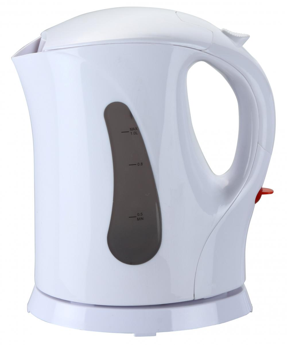 Brentwood 1.0 Liter Cordless Plastic Water Kettle - White